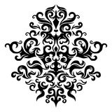 Symmetrical floral ornament. A drawing of symmetrical floral ornament Stock Photo