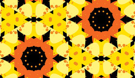 Symmetrical Floral Shape Pattern Stock Images