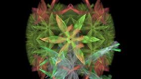 Symmetrical flower - fractal art design stock video