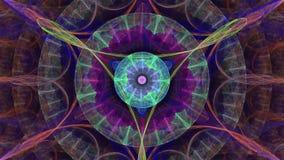 Symmetrical flower - fractal art design stock video footage