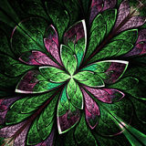 Symmetrical flower pattern in stained-glass window style. Stock Photos