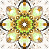 Symmetrical fractal pattern with shiny strips Royalty Free Stock Images
