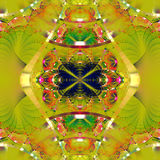 Symmetrical fractal pattern with shiny strips. Stock Photo