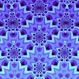 Symmetrical Fractal Pattern. Violet Recurring Symmetrical Fractal Pattern Royalty Free Stock Photo
