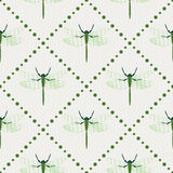 Symmetrical geometric background with dragonflies Stock Images