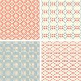 Symmetrical geometric shapes stars squares circles Royalty Free Stock Images