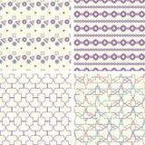 Symmetrical geometric shapes triangle squares Royalty Free Stock Image