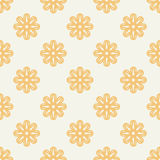 Symmetrical geometric shapes yellow floral vector Royalty Free Stock Photography