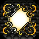 Symmetrical golden floral pattern Stock Image