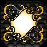 Symmetrical golden floral pattern Stock Image