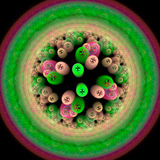Symmetrical growth of bacteria. 3d render illustration of colorful bacteria Royalty Free Stock Photos