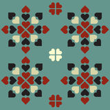 Symmetrical heart pattern graphic Royalty Free Stock Photos