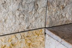 Detail of modern achitecture stone facade tiles Royalty Free Stock Photography
