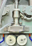 Symmetrical image of manufacturing equipment detail Royalty Free Stock Photos