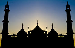 Symmetrical Islamic architecture silhouette Royalty Free Stock Photos