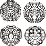 Symmetrical knot patterns Royalty Free Stock Images