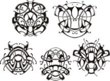 Symmetrical knot patterns Stock Photography