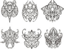 Symmetrical knot tattoo designs Royalty Free Stock Photography