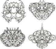 Symmetrical knot tattoo designs Royalty Free Stock Images