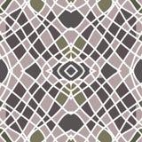 Symmetrical mosaic. For decor and decoration stock illustration