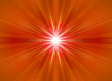 Symmetrical orange rays. Background composed of rays emanating from the centre Stock Image
