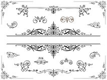 Symmetrical ornament design elements Stock Photo