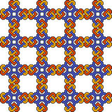 Symmetrical pattern. A colorful, symmetrical pattern useful in creating a seamless background Royalty Free Stock Photo