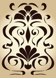 Symmetrical pattern art nouveau Stock Photography