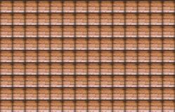 Symmetrical pattern of the cell image of wooden wall with clear boundaries shadows background Royalty Free Stock Images