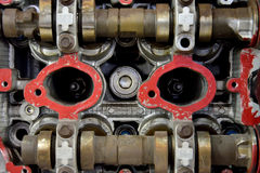 Symmetrical pattern of diesel engine Stock Photo