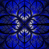 Symmetrical pattern of the leaves in blue and black. Collection Royalty Free Stock Photos