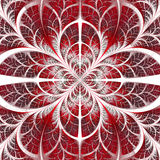 Symmetrical pattern of the leaves in red and white. Collection - Stock Photos