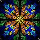 Symmetrical pattern in stained-glass window style. Stock Photo