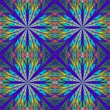 Symmetrical pattern in stained-glass window style. Stock Photography