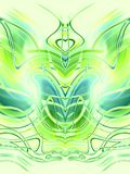 Symmetrical Patterns Green  Royalty Free Stock Photo