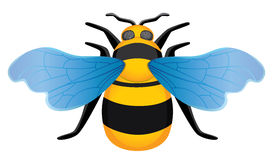 Symmetrical picture bee. Eps10 vector illustration Royalty Free Stock Images