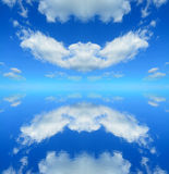 Symmetrical reflection Stock Photography