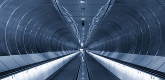 Symmetrical rings in subway tunnel Rotterdam Stock Photography