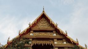 Symmetrical Roof of Temple stock image