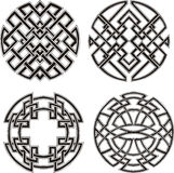 Symmetrical round knot patterns Stock Images