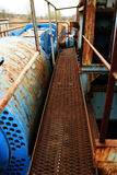 Symmetrical safety ramp. Industrial abstract Stock Photo