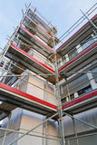 Symmetrical scaffolding construction Stock Photos