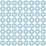 Symmetrical seamless blue floral pattern, cool pastel colors. Royalty Free Stock Photos