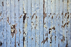 Symmetrical slats painted wooden old train car Royalty Free Stock Photo