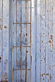 Symmetrical slats painted wooden old train car Royalty Free Stock Photos