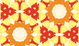 Symmetrical Snowflake Pattern Stock Images
