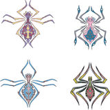 Symmetrical spiders Stock Photography