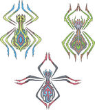 Symmetrical spiders Royalty Free Stock Photo