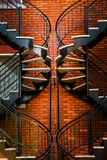 Symmetrical Staircases Royalty Free Stock Photo