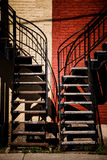 Symmetrical Staircases with two different colors Stock Photography